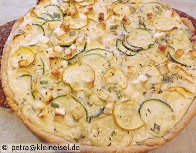 Zucchini-Schafskäse-Tarte