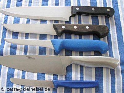 Messer, die schneiden oder so