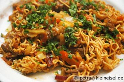 Ingwer-Beef mit Reisnudeln - ein Traum