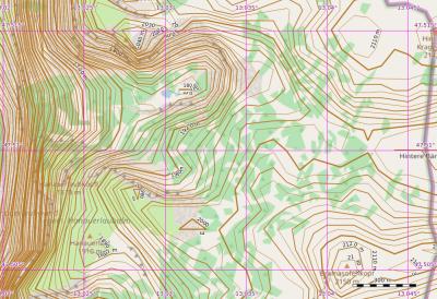 Höhenlinien LIDAR Deutschland